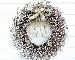 silver white wedding deco mesh wreath wedding wreath silver
