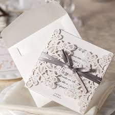 Invitation Cards In Coimbatore Aliexpress Com Buy 25pcs White Wedding Invitations Card Laser