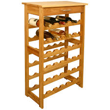 Narrow Kitchen Cart by Floor Standing Wine Racks Hayneedle