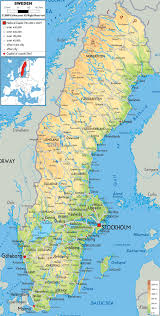 Europe Physical Map by Maps Of Sweden Detailed Map Of Sweden In English Tourist Map