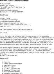 Entry Level Academic Advisor Cover Letter Sample  How To Write Academic Job Cover Letter Templates Cover Letter Templates