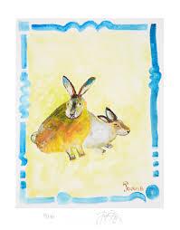 rabbit prints limited edition print of jacques pepin s original animal