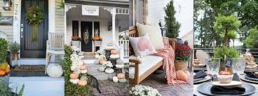 Fall Patio Rustic Cottage Farmhouse Fall Porch Steps Liz Marie Blog