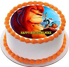 lion king cake toppers lion king 2 edible birthday cake or cupcake topper edible prints