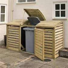 rowlinson wooden bin store at homebase co uk