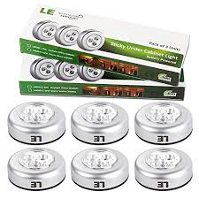 Under Cabinet Lighting Battery Operated Le 6 Pack Led Battery Operated Stick On Tap Light Mini Under