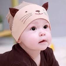 2017 sale soft cotton baby hat lovely cat stripe beanie winter