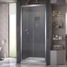 Shower Door 36 Dreamline Butterfly Frameless Bi Fold Shower Door And Slimline 36