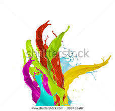 royalty free colored paint splashes vector splash u2026 142868089