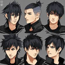 names of anime inspired hair styles noct hairstyles by bev nap on deviantart character design