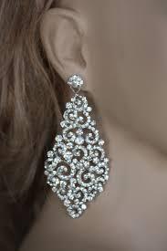 Chandelier Earrings Etsy Bridal Earrings Swarovski Crystal Earrings Wedding Chandelier