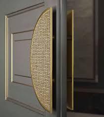 Designer Interior Door Handles Sicis Door Handle Gold Tones Door Panels Gray Grey Door