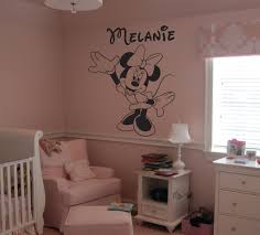 minnie mouse wall decals with custom name size 23