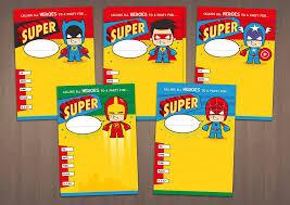 20 children u0027s birthday party invitations mixed superhero