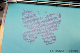 butterfly word silhouette giveaway