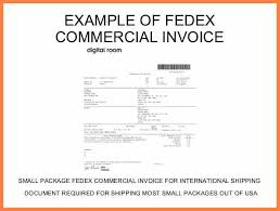 7 fedex international commercial invoice sample invoice template