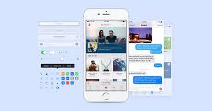ios 9 iphone gui facebook design