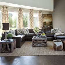Modern Living Room Ideas With Brown Leather Sofa Living Room Design Brown Living Rooms Rustic Table Room Decor