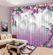 2017 classic home decor custom any size purple 3d curtains fashion