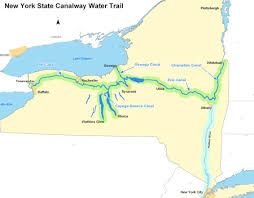 map of the erie canal erie canal assignment publish with glogster
