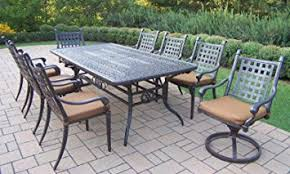 Expandable Patio Table Oakland Living Belmont 9 Rectangular Extendable