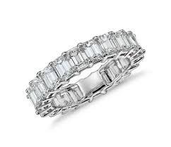 emerald cut wedding band emerald cut eternity ring in platinum 5 ct tw blue nile