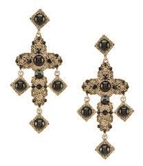 gunmetal chandelier earrings natasha accessories dillards com