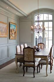 crown molding with exciting wainscoting panels for traditional