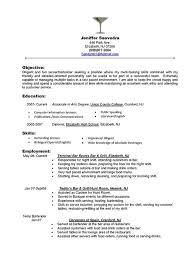 Sample Server Resumes by Sample Server Resumes Restaurant Server Resume Template Free