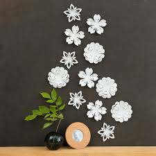 Wall Decor Interesting Wall Decoration by White Flower Wall Decor White Blossoms Pop Up Set Of 12