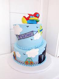 Baby Shower Boy Cakes Airplane Baby Shower Cake Polkadots Olga Flickr