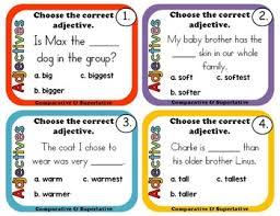 comparative and superlative adjective and adverb by rock paper