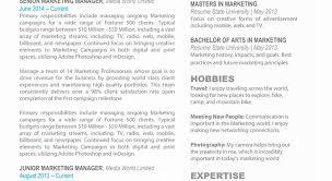 marketing resume template marketing resume template lovely finance sle resume sle