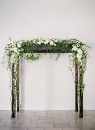 wedding arch greenery rosemary wedding from kinsey handmade items