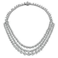 round crystal necklace images Rosenberg diamonds 80 carats platinum black tie pear shape diamond jpg