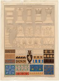 historical ornament architecture print engraved in their