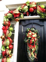 Decorative Garlands Home Front Doors Home Door Mesh Garland Front Door Christmas Garland