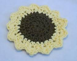 Mug Rug Designs Ravelry Sunflower Mug Rug Pattern By Marie Anne St Jean