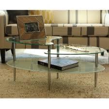 Metal Glass Coffee Table Amazon Com Walker Edison Glass Oval Coffee Table Kitchen U0026 Dining