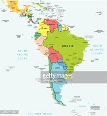 map of america with cities south america map countries and cities vector getty images