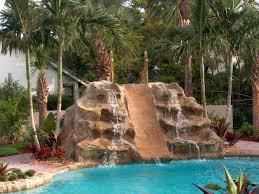 pool rock waterfall kits backyard design ideas