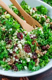 quinoa salad for thanksgiving cranberry kale quinoa salad with candied pecans and feta peas