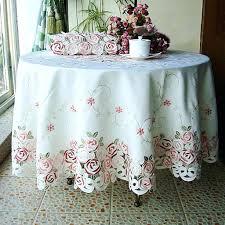 shabby chic round table large round table cloths dining room end cloth tablecloths vinyl