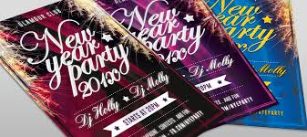 free new year party flyer template hollymolly
