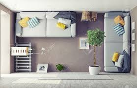 Modern Living Room Pictures Free Strange Living Room Interior 3d Design Concept Stock Photo