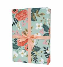 floral gift wrapping paper floral summer bloom gift wrapping paper set of three by