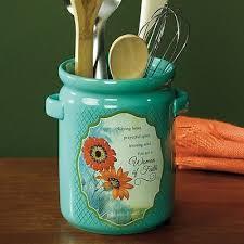 kitchen utensil canister kitchen utensil crock ceramic holder canister jar organizer