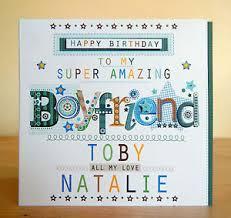 boyfriend birthday card special personalised happy birthday