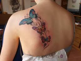 butterfly tattoos on your back