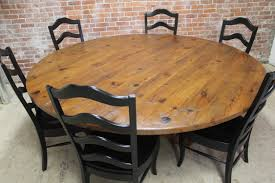 Interesting Rustic Round Dining Room Sets Table Pads That Have - Large round kitchen tables